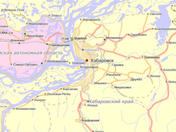 Хабаровская карта