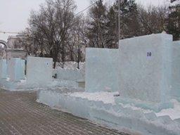 В Хабаровске стартовал конкурс ледовых скульптур «Амурский хрусталь»