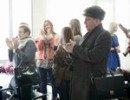 14.02.14 Аэропорт Хабаровск проводил творческие коллективы Хабаровского края для участия в мероприятиях Олимпиады в Сочи