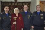 Сотрудники МЧС России поздравили ветеранов с Днём Победы