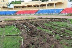 Новый искусственный газон постелят к октябрю 2014г.