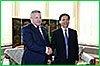 Губернатор Вячеслав Шпорт встретился с первым секретарем Комитета КПК провинции Хэйлунцзян Ван Сянькуем
