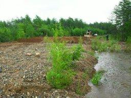 В Охотском районе проводятся работы по восстановлению дорожного полотна на участке автодороги местного значения п. Охотск – п. Аэропорт