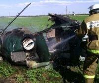 Вертолёт сгорел после вынужденной посадки в Якутии, пострадавших нет