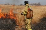 Огнеборцы продолжают тушить палы сухой травы