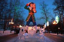 В Хабаровске начали монтаж новогоднего светового оформления в городском парке «Динамо»