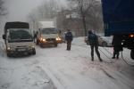 В Хабаровском крае силы и средства МЧС России помогают автомобилистам во время циклона (фото)