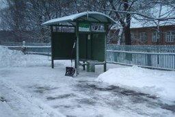 В течение двух дней все остановки пассажирского транспорта должны быть расчищены от снега