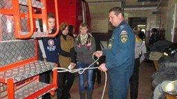 В гостях у пожарных-спасателей