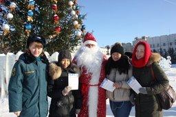 Акцию «Новогоднее предупреждение» в Хабаровске совместно с Дедом Морозом провели инспекторы государственного пожарного надзора