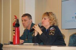 В Хабаровске инспекторы государственного пожарного надзора провели инструктаж по пожарной безопасности с волонтерами XXXV чемпионата мира по хоккею с мячом.