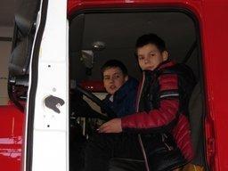 Пятиклассники 55-ой средней школы города Хабаровска побывали в гостях у пожарных ПЧ-1