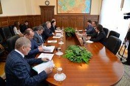 Вячеслав Шпорт встретился с президентом компании «Балтика» Яцеком Пастушкой