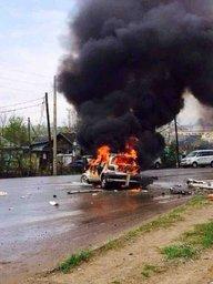 В Хабаровске сгорела машина доставщика пиццы