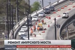 В Хабаровске продолжается ремонт Амурского моста - специалисты планируют...