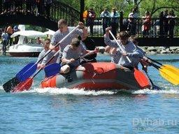Показательные соревнования по рафтингу, каякингу и кануполо, прошедшие в Хабаровске