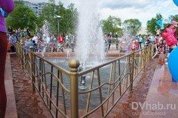 В Хабаровске появился новый фонтан