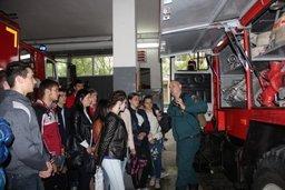Будущие педагоги побывали на экскурсии в 1-ой пожарно-спасательной части города Хабаровска