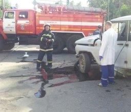 Пожарные принимали участие в ликвидации последствий ДТП в Хабаровске