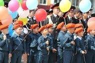 Ученики кадетской школы отметили День знаний на площади Славы