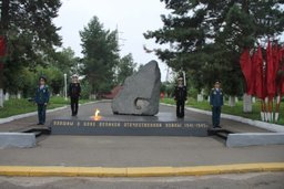 В Комсомольске-на-Амуре сотрудники МЧС России приняли участи в вахте памяти в честь Победы во Второй мировой войне