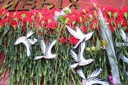 Возложение цветов к Вечному огню и торжественные мероприятия в честь 70-летия окончания Второй мировой войны