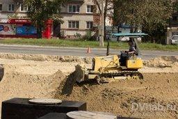 На ул. Краснореченской продолжается масштабная реконструкция