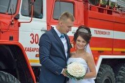 Свадьба с двумя «П» на спецтехнике и с цветами