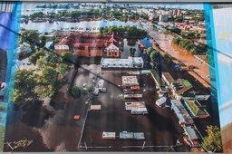 В районе затона торжественно открыта музей-дамба, посвященная наводнению 2013 г