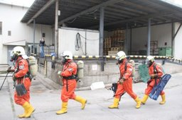 Во Владивостоке ликвидировали условную аварию с выбросом опасных химических веществ