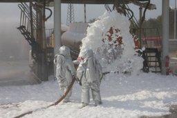 Учения в рамках месячника гражданской обороны прошли на объекте хранения нефтепродуктов
