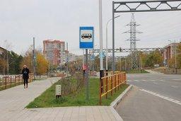 Общественный транспорт по недавно открытой ул