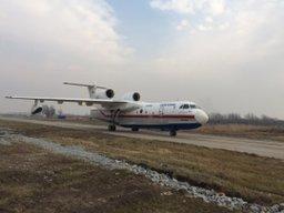 Самолет Бе-200 МЧС России в течение субботы обследовал 300 квадратных километров акватории