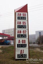 За месяц цена на бензин в Хабаровске выросла почти на рубль