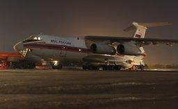 Первый самолет Ил-76 МЧС России прилетел в Москву из Шарм-эль-Шейха с багажом российских туристов