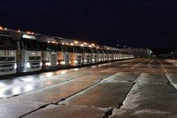 Гуманитарная колонна МЧС России отправилась из подмосковного Ногинска в Ростовскую область