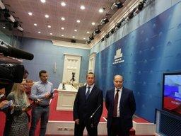 Брифинг Юрия Трутнева и Александра Галушки по завершении заседания Правительства России