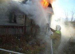 В ликвидации пожара в поселке Красносельское принимали участие добровольные пожарные
