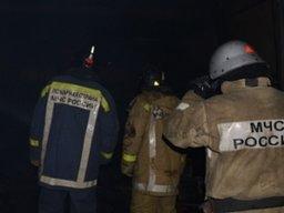 В поселке Сосновка сгорела деревянная баня