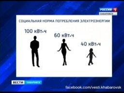 С июля следующего года в Хабаровском крае, как и по всей стране, планируется ввести социальные нормы потребления электроэнергии