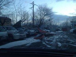 Начавшийся в Хабаровске снегопад - отголоски циклона с ураганным ветром, который сейчас бушует в Приморье