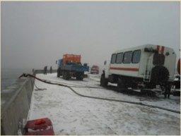 В Невельском районе Сахалинской области продолжаются работы по снятию танкера «Надежда» с мели