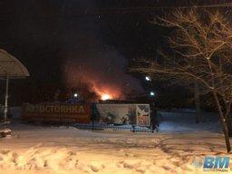 По Хабаровску проехал поезд в огне