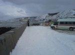 В Сахалинской области создают насыпь, ведущую к севшему на мель танкеру «Надежда»