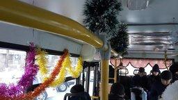 Автобус 1 маршрута уже готов к Новому году