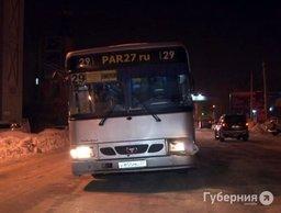 Гонка двух автобусов маршрута № 29 закончилась аварией в Хабаровске