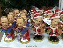 Всенародная любовь к Путину у китайцев: В Хабаровске продают китайские фигурки Путина в костюмах американских героев