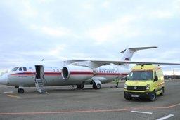 Ан-148 МЧС России осуществил санитарно-авиационную эвакуацию тяжелобольных граждан из Симферополя в Москву (видео)