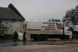 Гуманитарная колонна МЧС России прибыла в пункты разгрузки (видео)