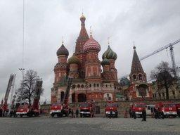 На Красной площади продемонстрированы новейшие образцы пожарно-спасательной техники МЧС России